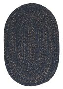 Hayward Navy Blue Braided Area Rug/runner By Colonial Mills. Many Sizes. Hy59
