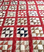 Rare 19th Century Signed Antique Quilt American Centennial 1776 - 1876
