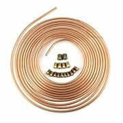 Steel Zinc Copper Nickel Brake Line Tubing Kit 1/4and039and039 Od 25 Foot Coil Roll