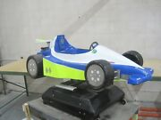 Racing Car Formula 1 Indy 500 Grand Prix Coin Operated Kiddie Ride White Blue