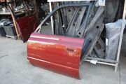 1991 Toyota Land Cruiser Left Driver Front Door Shell Red [chips/dent]