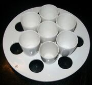 Lot Of 7 Coors Usa Laboratory Filter Cups 4 White And 3-footed Cup Holder