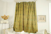 3 Curtains Antique French Wool And Silk Challis 1860and039s Museum Quality Textiles
