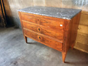 Antique And Elegant Louis Xvi Dresser With 3 Drawers - Restored In Progress