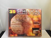 3d Spherical Jigsaw Puzzle 9.5 Antique Globe 1998 Buffalo Games 530 Pc New Usa