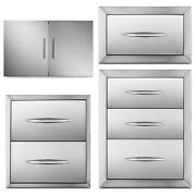 Outdoor Kitchen Drawer Door Access Bbq Drawer For Grill Flush Enclosed Drawer