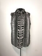Real Natural Chinchilla Vest Sleeveless Jacket Good Price Luxor Leathers And Furs