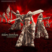 Raging Heroes Sisters Of The Orphanage Davidians Command Female 28mm