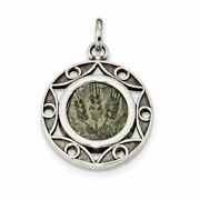 Ancient Coins Sterling Silver And Bronze Antiqued Agrippa Coin Charm Pendant