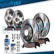 Front Rear Disc Rotors + Brake Pads For 1997 1998 1999 Toyota Camry Lexus Es300