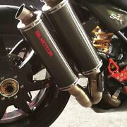 Ducati Monster S4r Silmotor Full Exhaust System Silencers Carbon 54mm Duel Race