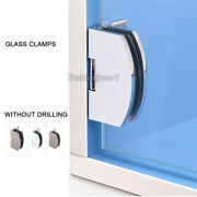 Hot 10pcs Glass Cabinet Clamps Clips Cupboard Display Cabinet Hinges No Drilling