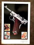 German Luger P08 Parabellum Poster Art Print For The Multi National Pistol Book