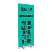 4'x8' Retractable Roll Up Banner Stand Aluminium Trade Show Promotional Display