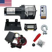 Electric Atv Utv Rope Cable Winch Truck Boat Trailer Lifting Sling Us Ship-