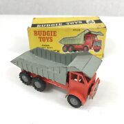 Budgie Toys No. 226 Dump Truck Orange And Grey Boxed Box A/f Damaged