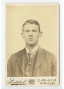 Cab Card Photo Man Named C E Byers From Sunbury Pa By Rippel Ided On Back