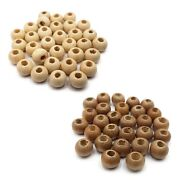 Round Wood Spacer Bead Natural Unpainted Wooden Ball Beads Diy Craft Jewelry Br