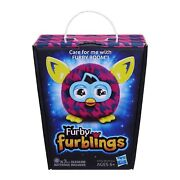 2013 Hasbro Furby Furbling Critter Pink And Blue Houndstooth New In Box Rare