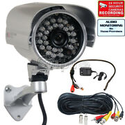 700tvl Security Camera W Sony Effio Ccd Audio Video Cable, Microphone, Power Wwc