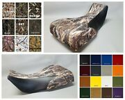 Yamaha Yfm660 Grizzly 660 Seat Cover 2-tone Drt Camo W/ Black Sides Or 25 Colors