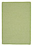 Outdoor Houndstooth Tweed Lime Green Braided Area Rug/runner. Many Sizes. Ot69