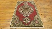 Beautiful Vintage 1940-1950and039s Natural Dye Wool Pile Village Rug 1andrsquo9andrdquox3andrsquo2andrdquo