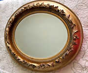 Antique Victorian 2 Oval Mirrors In Double Frame One Pair For Sale