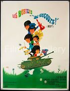 Help 1965 Huge Rare Style 47x63 Linenbacked Poster The Beatles Filmartgallery