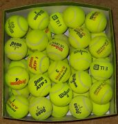 50 Used Tennis Balls Mixed Brands. Good Condition Used Indoor Tennis Club