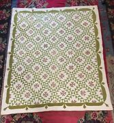 Graphic 1860s Ocean Waves Quilt Swag Border