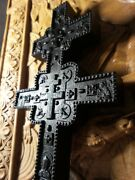 Wooden Carved Cross Bog Oak Antique Wood. Christian Gift Religious Gifts