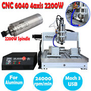 4axis Cnc 6040 Router Engraver Mcah 3 Usb 2200w Drilling Engraving Diy Machine
