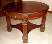 Rj Horner Table Very Good Antique Victorian Walnut Carved Table