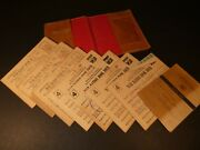 Vintage War Ration Stamp Books - 8 Books - Tons Stamps - Leather Book, Ca Family