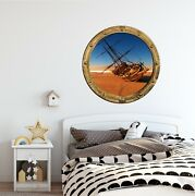 Portscape Shipwreck 2 Porthole 3d Window Wall Sticker Removable Mural Decal