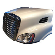 Freightliner Cascadia Hood Short 113 Bbc W/headlights Grill Hinge Bar And Vents