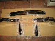 Brand New Mg Mga Front Bumper + Pair Bumper Overriders + Springs Mounts + Bolts