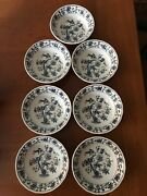 7 Style House Ming Tree Ironstone 5.5 Dinner Bowls Blue And White High Gloss