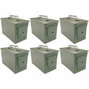 .50 Cal Ammo Cans Set Of 6   Green