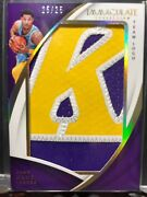 17-18 Immaculate Josh Hart Rookie Jumbo Team Logo Patch 25/25 Lakers Tag Gem