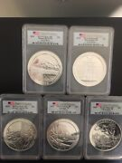 2010 Firststrike Pcgs 5 Coins 5 Oz Silver
