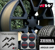 22 X9 Inch Wheels And Tires For Chevy Tahoe Replica 5656 Satin Black Rims