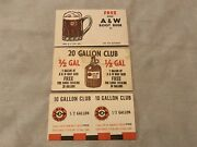 3 Different Vintage A And W Root Beer Free Drink Coupons