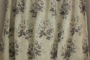 Curtain Antique French Mint Green Printed Chintz Cotton Fabric C 1850 Material