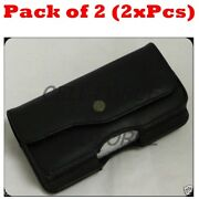 2x Horizontal Belt Clip Pouch Case Cover Holster For 5.25x2.5 Or Smaller Phone