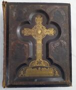 1882 Antique Bible,gay Bros. Ny,illustrated,steel Plate Full Page Engravings