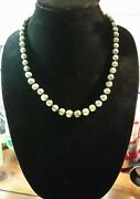 Honora Green Graduated Ringed Pearl 20 Necklace With H925 Clasp