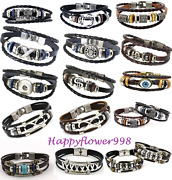 Wholesale And Retail Mens Leather Wristbands Ladies Leather Wristbands Bracelets