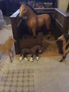Vintage Handmade Wood Toy Barn Horse Farm Play Barn For Cows And Animals